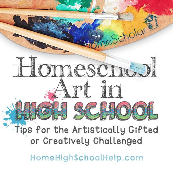 Homeschool Art in High School Image