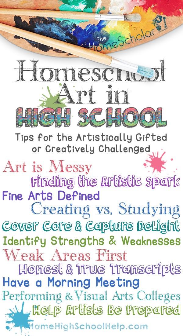 Homeschool Art in High School Infographic
